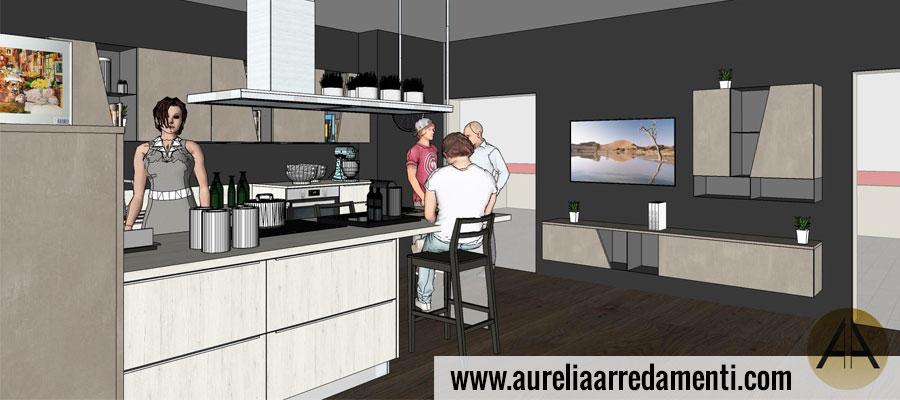 Progettazione cucine moderne Roma - Aurelia Arredamenti