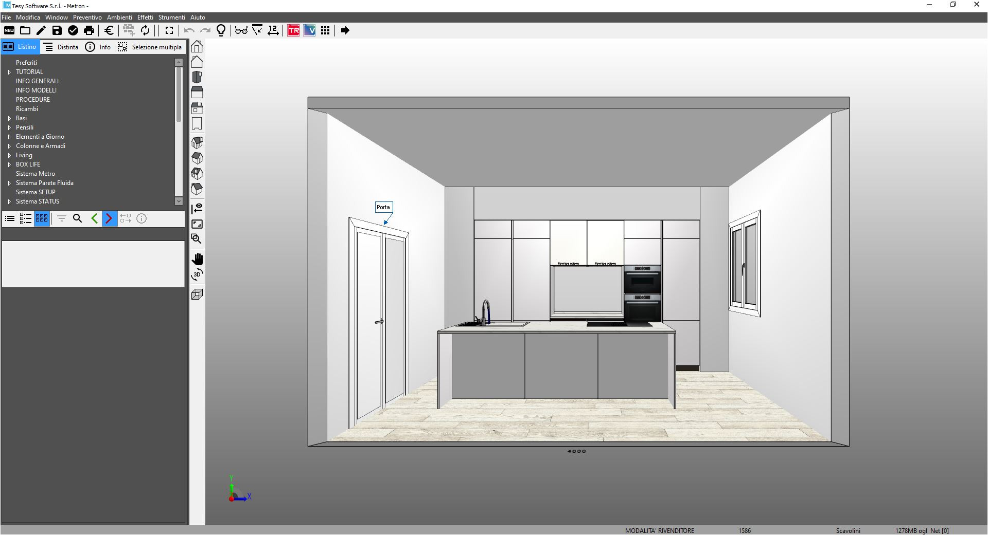 Progettazione online cucine Scavolini